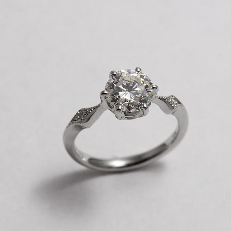 1ct ダイヤモンドのオーダーメイド婚約指輪