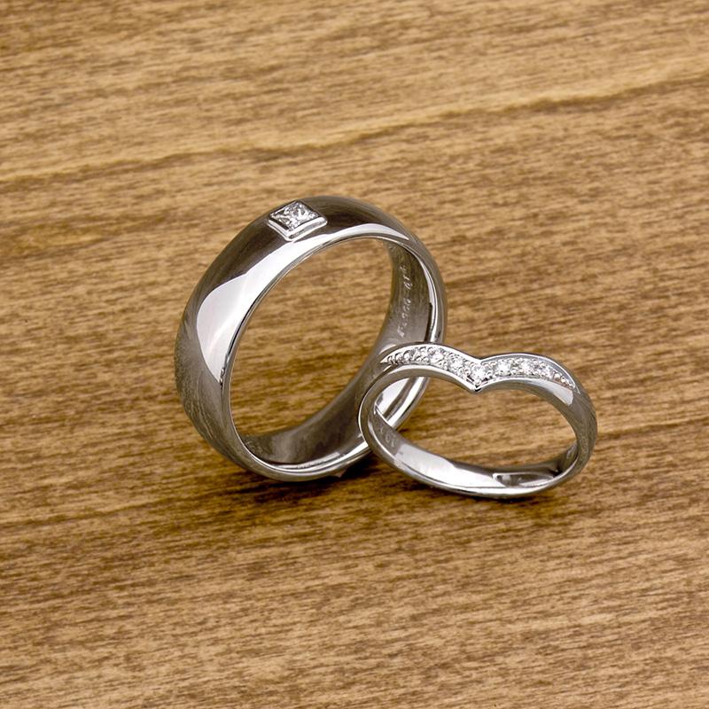 プラチナのオーダーメイド結婚指輪